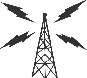 Radio tower transmitting